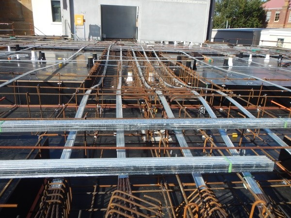 1st Floor slab structure