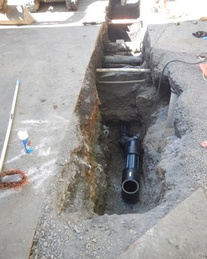Installation of sprinkler main