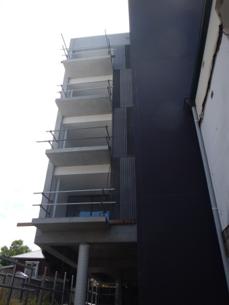 Balconies on SW corner