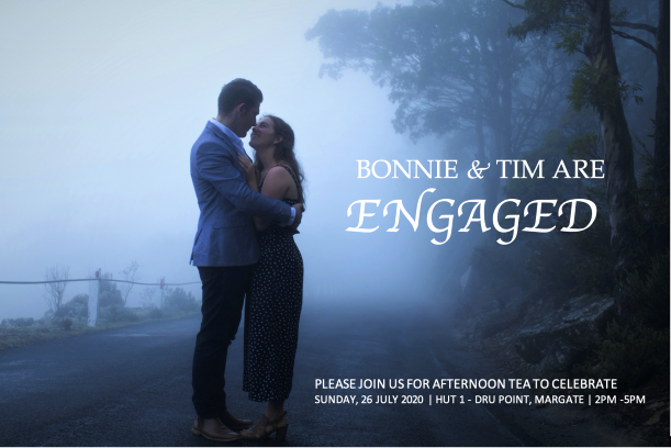 Tim and Bonnie's Engagement Invitation