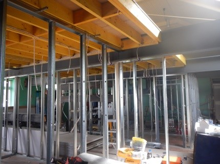 Upper Hall Mezzanine and Wall Framing