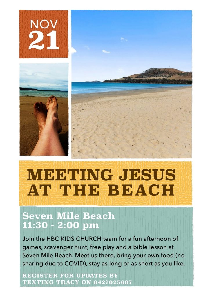Meeting Jesus at the Beach Flyer