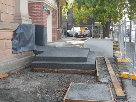 Forecourt Steps and Entry Ramp
