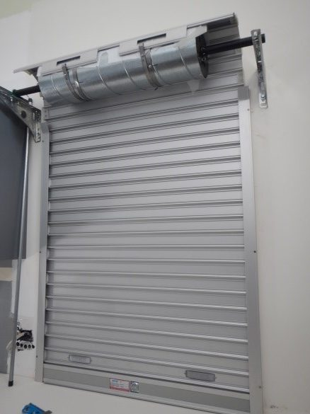 Servery Roller Door on the Kitchen side