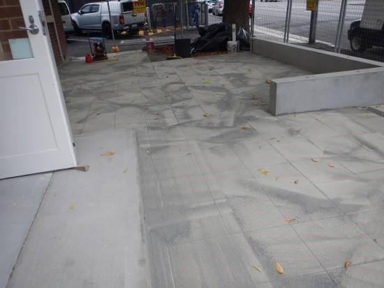 Forecourt paving