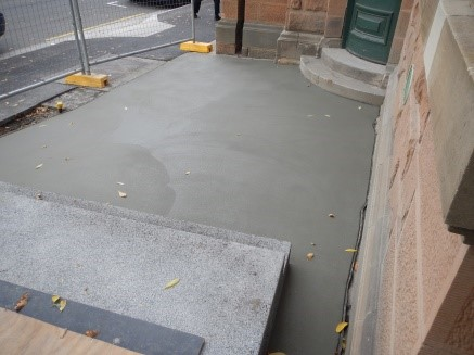 Forecourt concreting completed